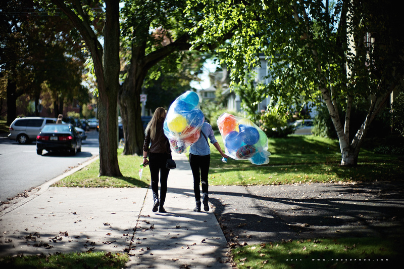 Balloon walk.