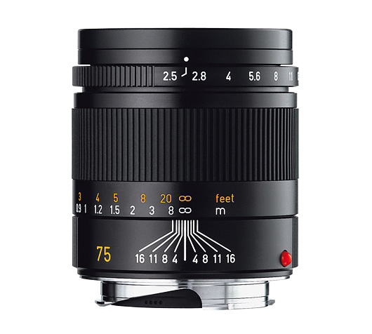Leica Summarit 75mm.
