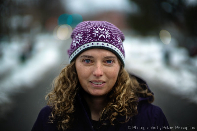 Purple Hat Portrait