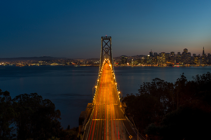 b-Bay Bridge at night