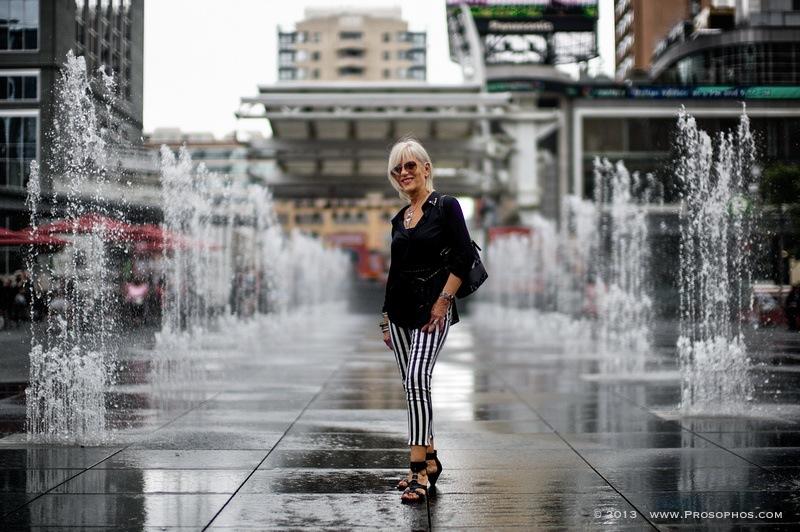 Lady at Dundas Square