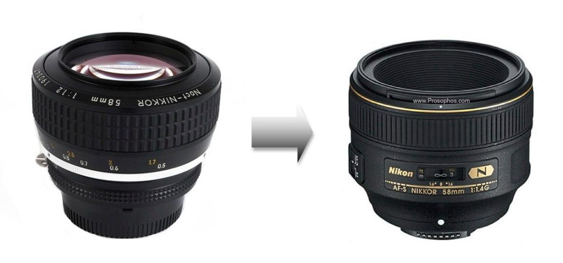 58mm Noct vs. 1.4 Prosophos