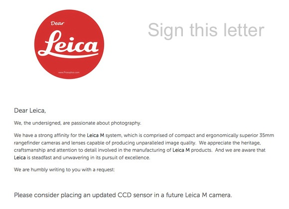 Prosophos Open Letter to Leica
