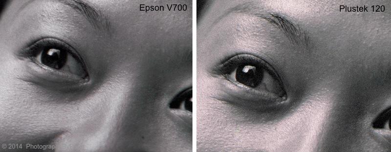 Epson V700 vs  Plustek 120  | Photographs by Peter