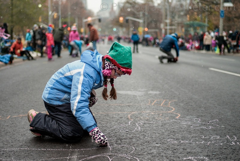 Chalk messages for Santa, closer
