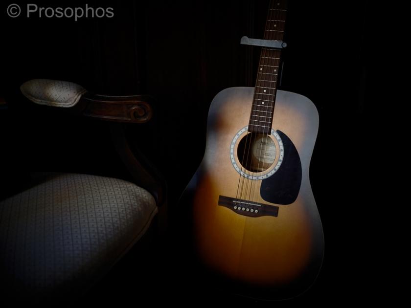 Guitar and Chair - Prosophos - Fuji Fujifilm GFX 100S - GF 50mm f3.5