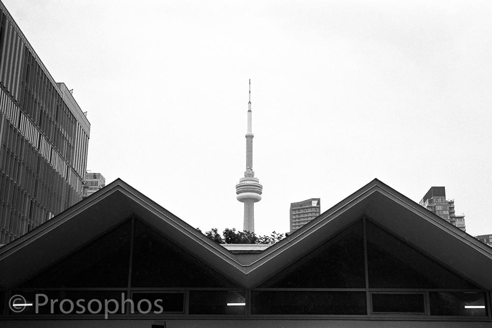 """CN Tower"" - Prosophos - Leica M2-R, Voigtländer Ultron Vintage Line 35mm f:2 Aspherical II, Kodak Tri-X 400, and Plustek 8200i"
