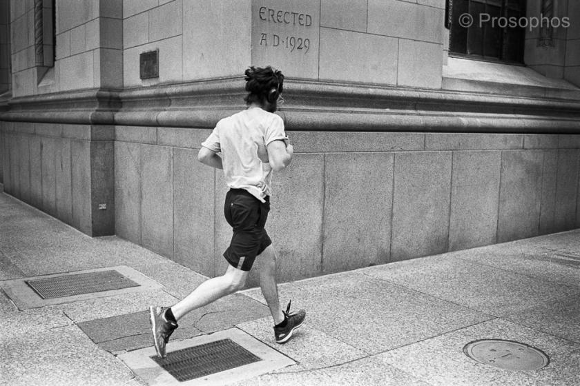 """Runner"" - Prosophos - Leica M2-R, Voigtländer Ultron Vintage Line 35mm f:2 Aspherical II, Kodak Tri-X 400, and Plustek 8200i"